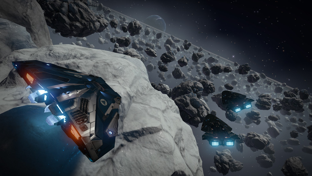 Promotional screenshot for Elite: Dangerous, the game we played in this episode.